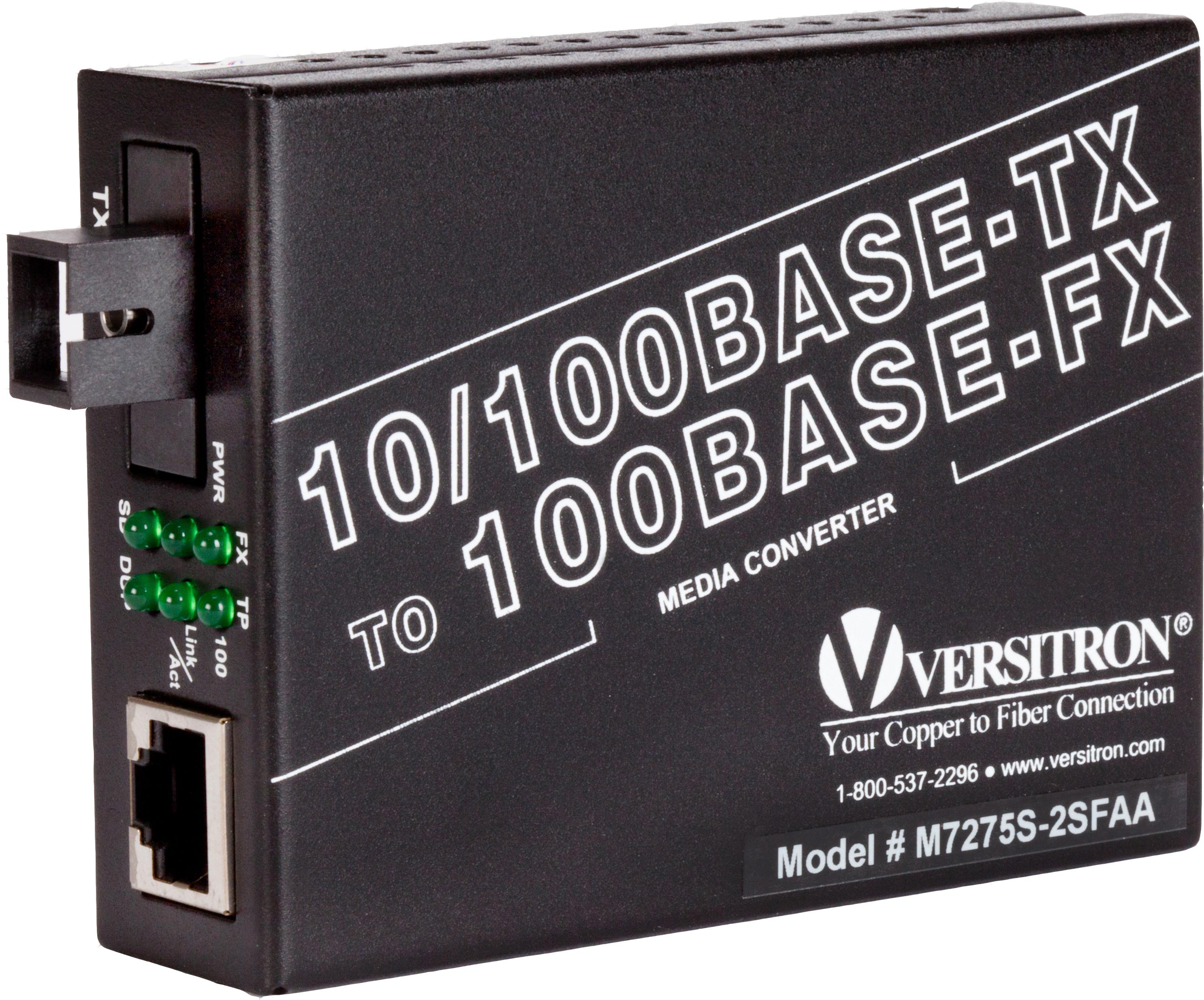 10/100 TX – 100 FX Single Fiber Media Converter, TX: 1310nm, Rx